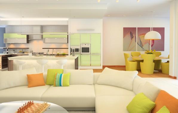 Картинка цветы, стиль, мебель, интерьер, colors, камин, style, гостиная, room, fireplace, furniture, living