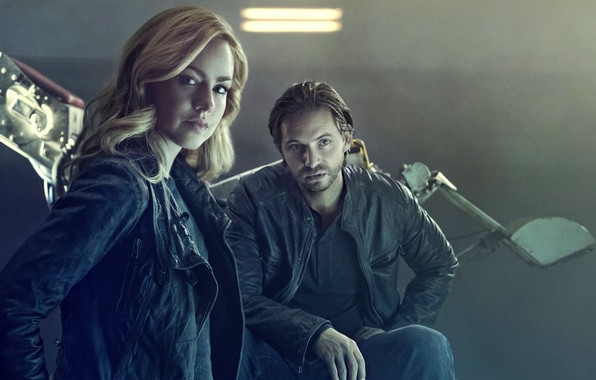 Картинка actor, actress, Aaron Stanford, tv series, 12 Monkeys, Amanda Schull, 12 monkeys, Cassandra Railly, James …