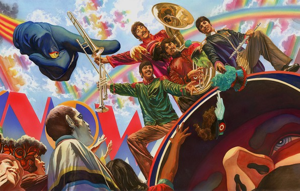 Картинка The Beatles, Битлз, George Harrison, Paul McCartney, John Lennon, Джордж Харрисон, Джон Леннон, Пол Маккартни, …