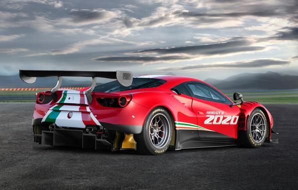 Картинка Ferrari, спорткар, Evo, GT3, 488, Ferrari 488
