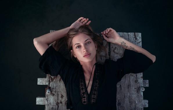 Картинка взгляд, девушка, река, Andrey Firsov