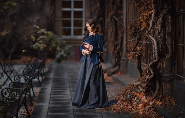 Картинка взгляд, поза, волосы, Девушка, книга, Анастасия Бармина