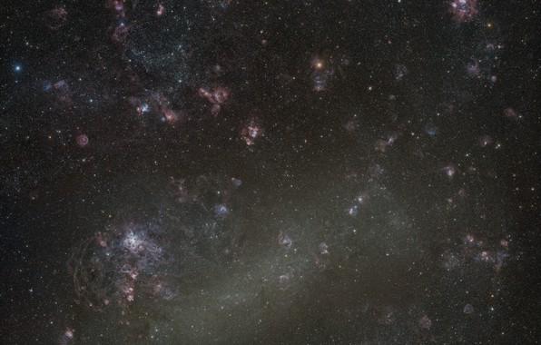 Картинка космос, БМО, LMC, Большое Магелланово Облако, карликовая галактика, Large Magellanic Cloud