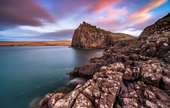 Картинка Scotland, Skye, Duntulm Castle Isle