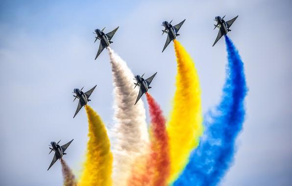 Картинка пилотажная группа, Chengdu J-10, ВВС Китая, «1 августа»