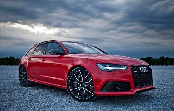 Картинка красный, Audi, rs6, Audi RS 6 Avant