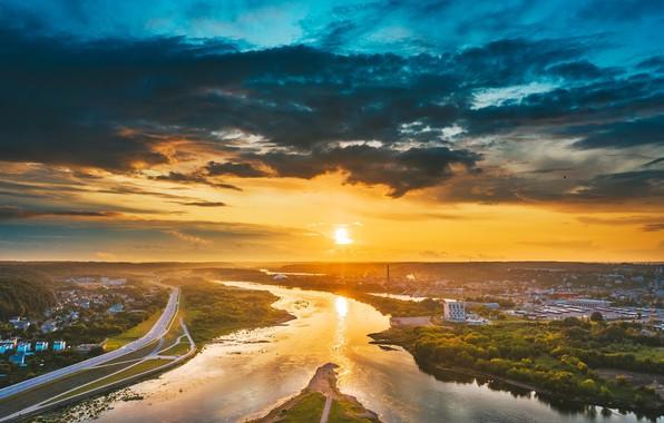 Картинка утро, Lietuva, Kaunas, Santaka