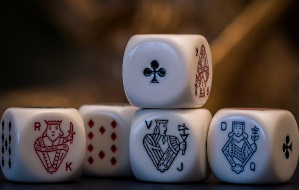 Картинка макро, кубики, игра, покер