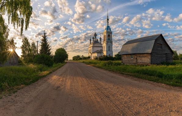 Картинка дорога, храм, Russia, Savinskoye, Yaroslavskaya Oblast'