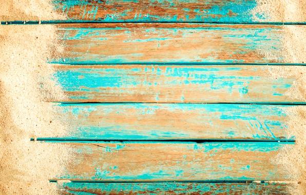 Картинка песок, фон, доски, beach, vintage, wood, background, sand, marine