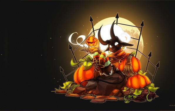 Картинка фэнтези, арт, хэллоуин, & Halloween Loading Screen, Sayael Nu, Fiesta Online - Candle Ghost