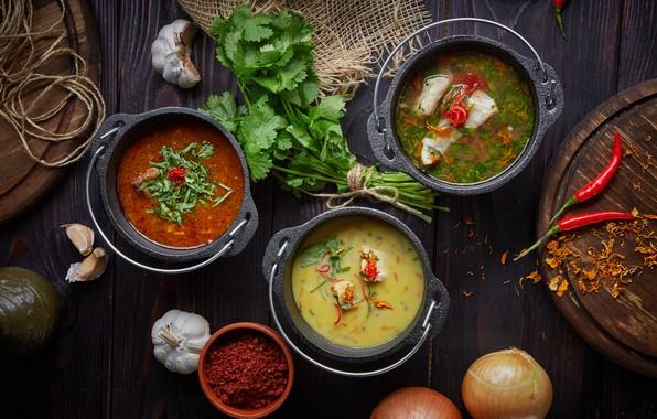 Фото обои суп, перец, петрушка, борщ, ассорти