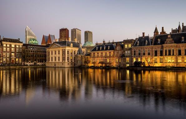 Картинка Нидерланды, Голландия, Гаага, Hofvijver