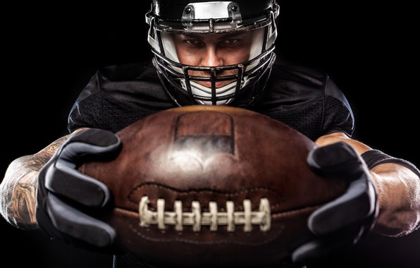 Картинка Мяч, Спорт, Шлем, Мужчина, Американский футбол, Регби