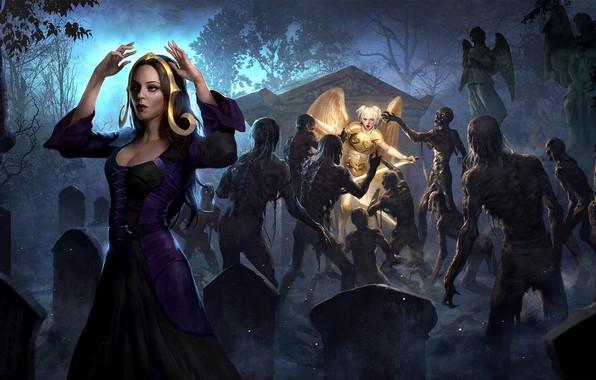 Картинка Magic: The Gathering, настольная игра, lius lasahido, Unholy Hunger, коллекционная карточная игра