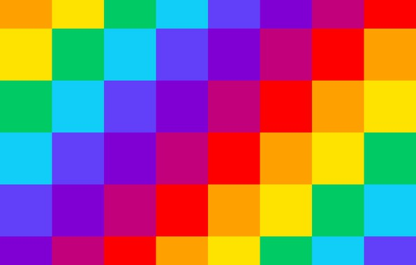 Картинка радуга, квадраты, rainbow, квадрат, square, fon