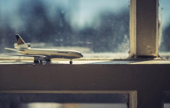 Картинка фон, окно, самолёт