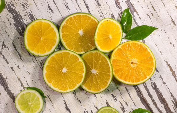 Картинка апельсин, лайм, цитрус, wood