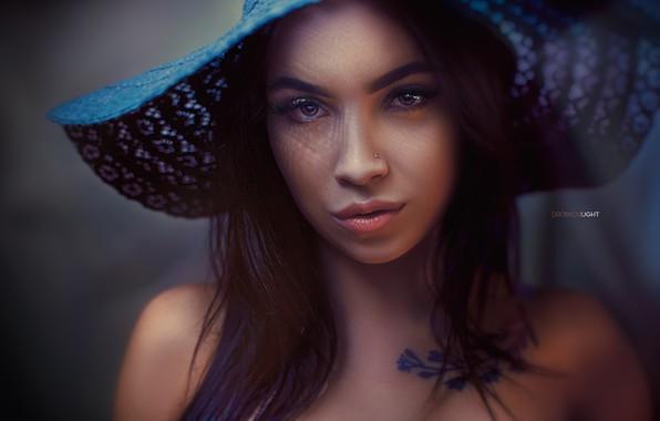 Картинка взгляд, девушка, лицо, портрет, шляпа, Alexander Drobkov-Light, Ангелина Сорокина