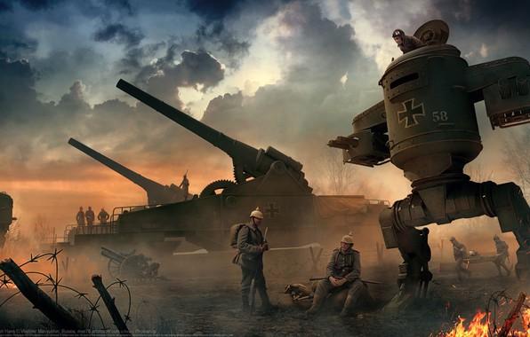 Картинка немцы, Vladimir Manyukhin, Iron Hans, Big Bertha