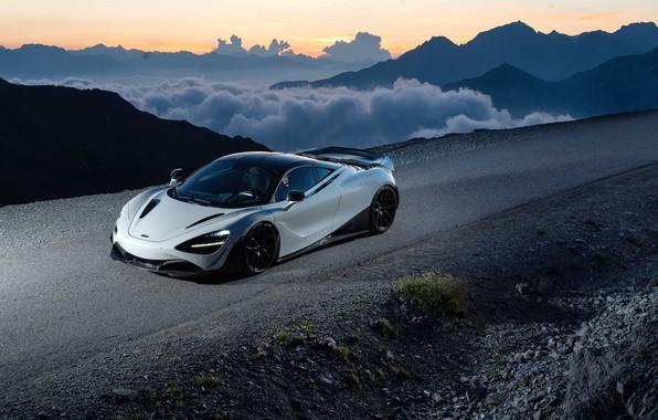 Картинка закат, McLaren, суперкар, 2018, Novitec, 720S