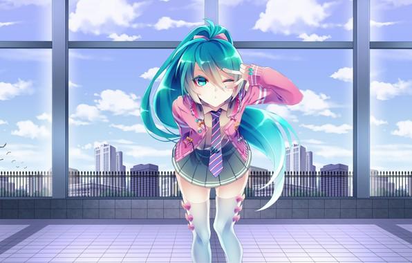 Картинка girl, vocaloid, hatsune miku, anime