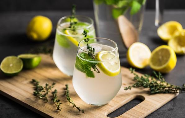 Картинка лимон, lemon, напиток, water, лимонад, lemonade, vitamins