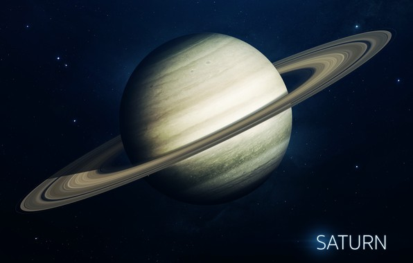 Картинка Сатурн, Звезды, Планета, Космос, Ягоды, Saturn, Арт, Stars, Space, Art, Planet, Система, Berries, System, Солнечная ...