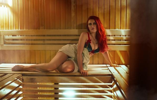 Картинка девушка, модель, баня, косплей, Трисс Меригольд, Triss Merigold, Трисс, косплей-модель