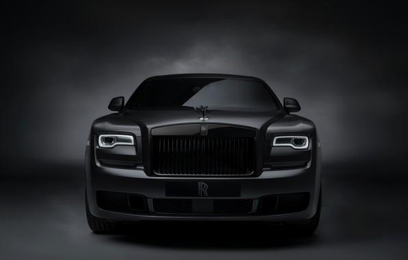 Картинка Rolls-Royce, Ghost, вид спереди, Black Badge, 2019