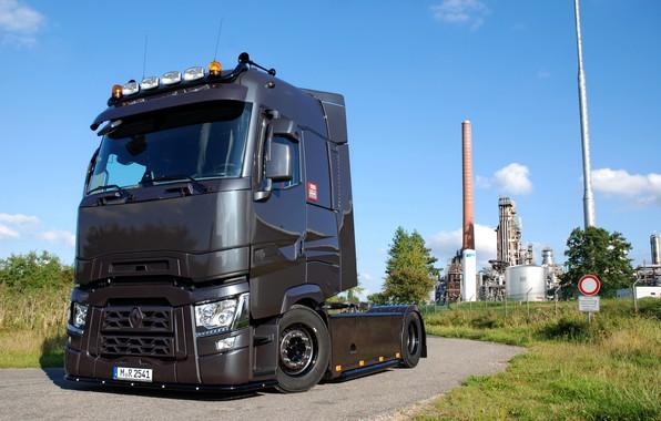 Картинка дорога, завод, грузовик, Renault, тягач, Torpedo, T520, Renault Trucks, T-series