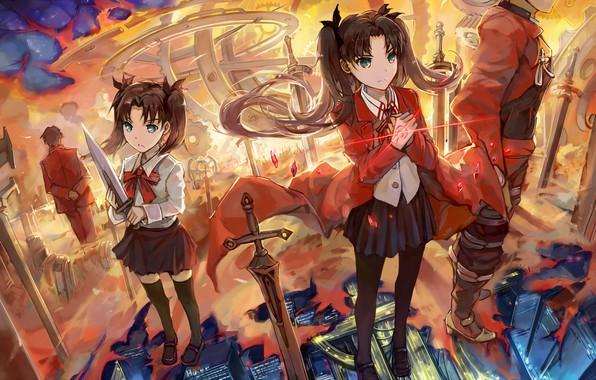 Картинка девушка, девочка, арчер, Судьба ночь схватки, Fate / Stay Night, воспоминание
