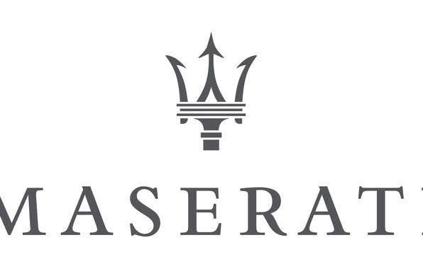 Картинка белый, серый, лого, logo, white, maserati, мазерати, gray