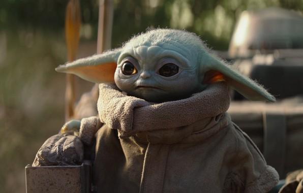 Картинка green, star wars, series, baby, yoda, cute, mandalorian, the mandalorian, baby yoda