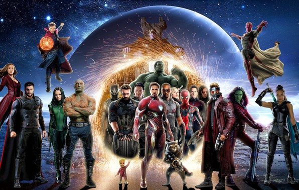 Картинка фантастика, коллаж, постер, персонажи, комикс, супергерои, MARVEL, Avengers: Infinity War, Мстители: Война бесконечности