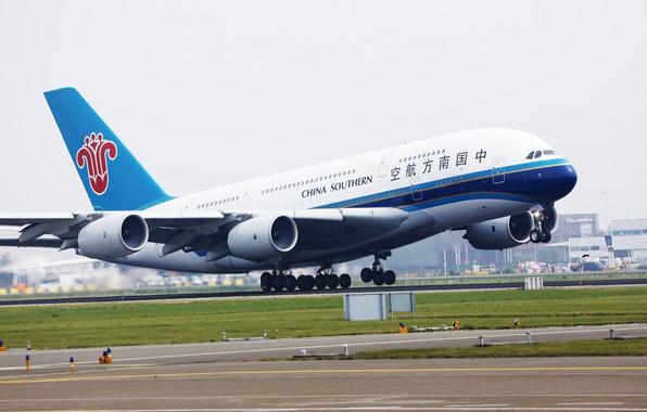 Картинка самолет, фото, Airbus, Southern A380