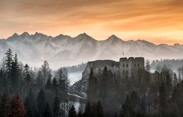 Картинка Poland, Tatra mountains, Czorsztyn castle