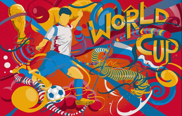 Картинка Футбол, Россия, Art, 2018, ФИФА, FIFA, Кубок, ЧМ 2018, Чемпионат мира по футболу 2018, Россия ...
