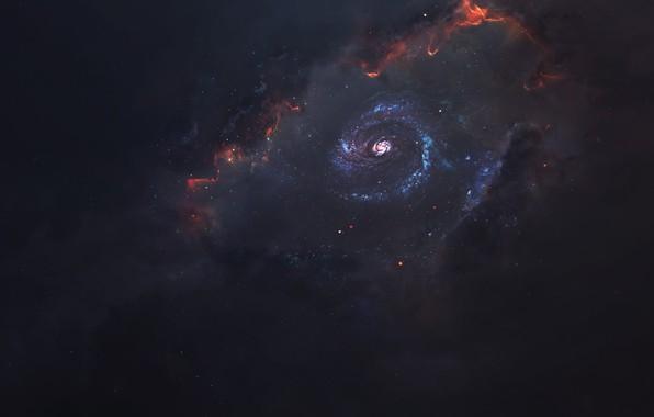 Картинка Звезды, Космос, Туманность, Звезда, Star, Арт, Stars, Space, Art, Universe, Galaxy, Nebula, Science Fiction, Пространство, …