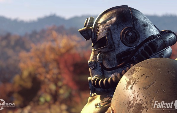 Картинка Шлем, Fallout, Bethesda Softworks, Bethesda, Братство, Bethesda Game Studios, Brotherhood of Steel, Fallout 76, Братство ...