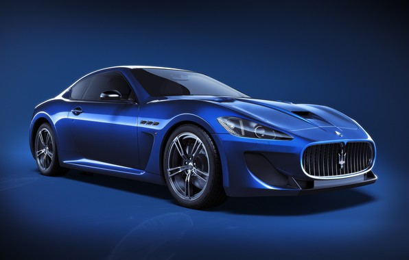 Картинка Maserati, Авто, Синий, Машина, Car, Art, Render, Design, Суперкар, Supercar, Спорткар, Sportcar, CGI, Transport & …