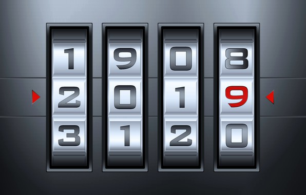 Картинка цифры, Новый год, New Year, 2019
