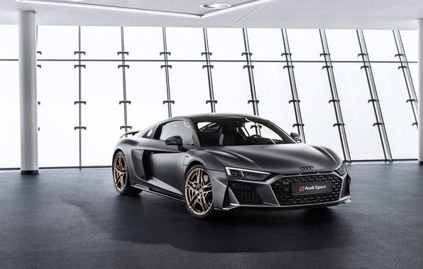 Картинка машина, Audi, фары, купе, спорткар, Audi R8, V10, Decennium