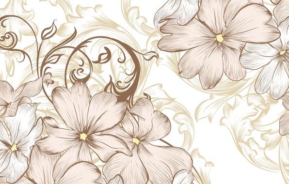Картинка цветы, ретро, винтаж