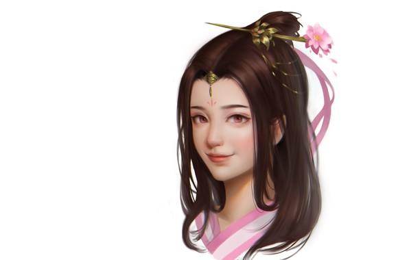 Картинка портрет, аниме, арт, девочка, детская, Panda Hu, 小练习
