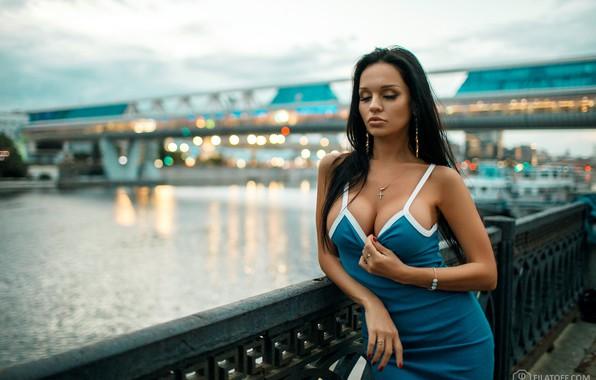 Картинка грудь, модель, Девушка, брюнетка, Дмитрий Филатов, Dmitry Filatov, Filatoff