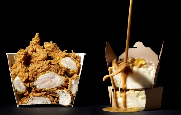 Картинка фотограф, соус, photographer, sauce, пюре, mashed potatoes, хрустящая. курочка, crispy. chicken, Beth galton