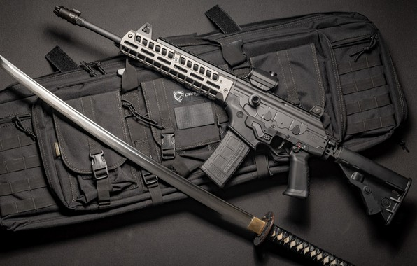 Картинка оружие, меч, sword, Автомат, Gun, weapon, кастом, Катана, Custom, Штурмовая винтовка, Katana, Assault Rifle, Galil, …