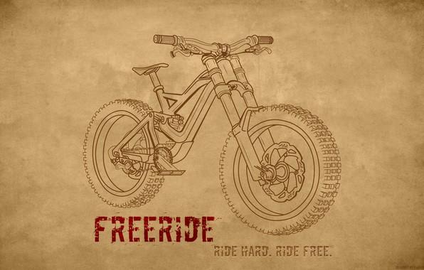Картинка велосипед, спорт, рисунок, sport, байк, bicycle, bike, cycle, extreme, велоспорт, freeride, downhill, mtb, mondraker