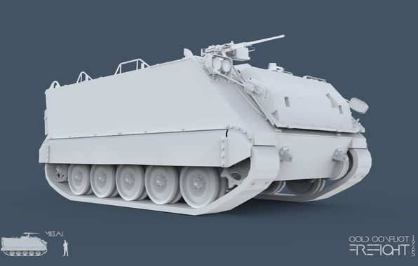 Картинка 3ds max, M113A1, CC Firefight 1985, keyshot, cold conflict, Firefight 1985